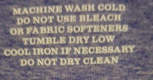 care instructions for garment