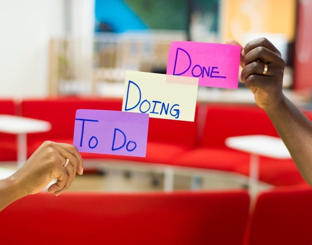 Signs: To Do Doing Done